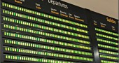 spanish airport departure board