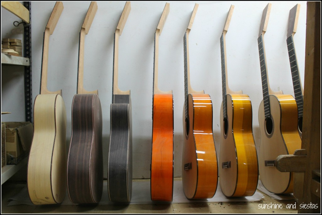 The making of a flamenco guitar
