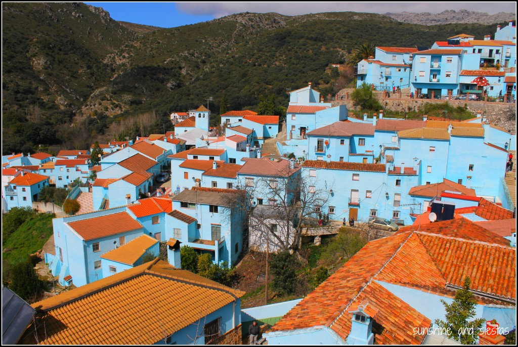 Blue village in Spain