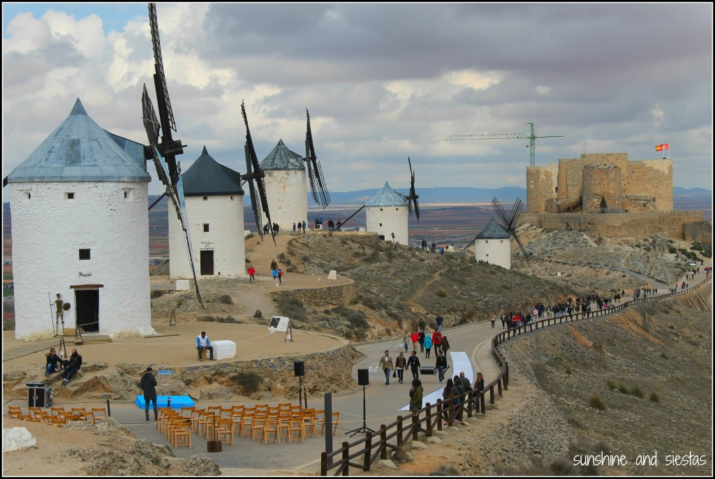 panorama of Don Quixote's windmills