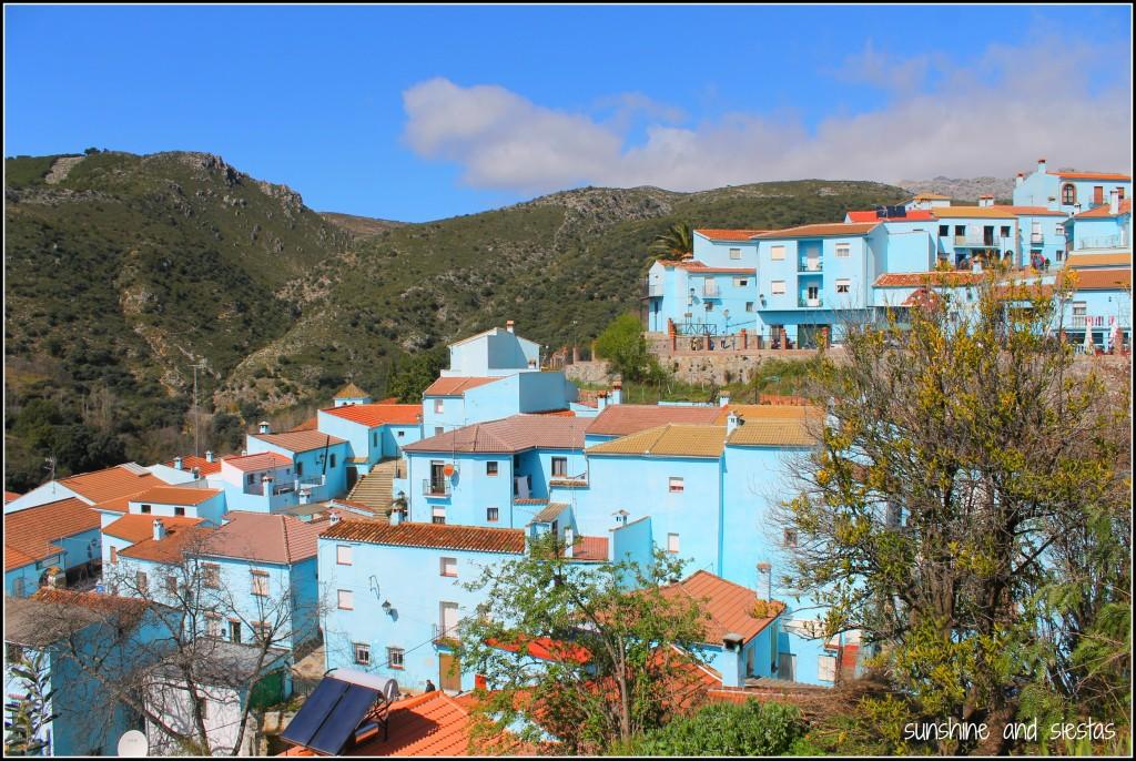 panorama of Juzcar, Spain