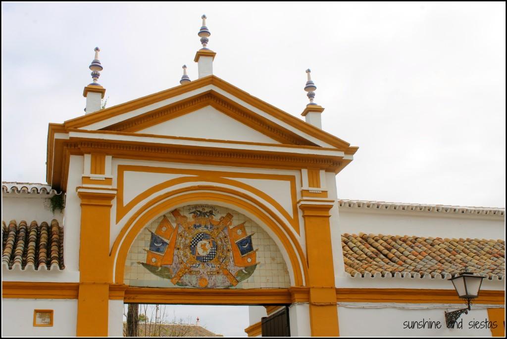 Facade of Palacio de las Dueñas Sevilla