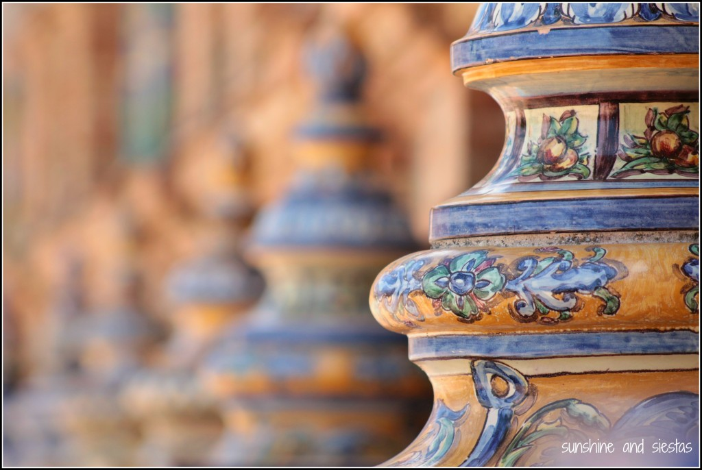 ceramics at Plaza de España Seville Spain