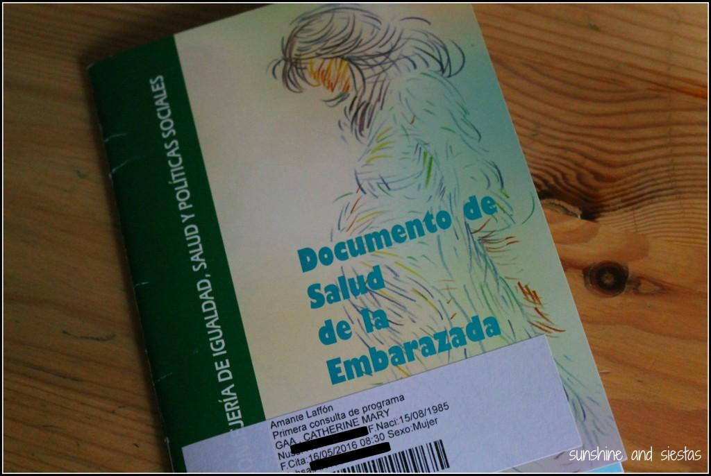 Cartilla de Embarazada for Andalusia