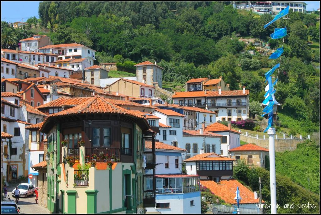Panoramic view of Lastres Asturias
