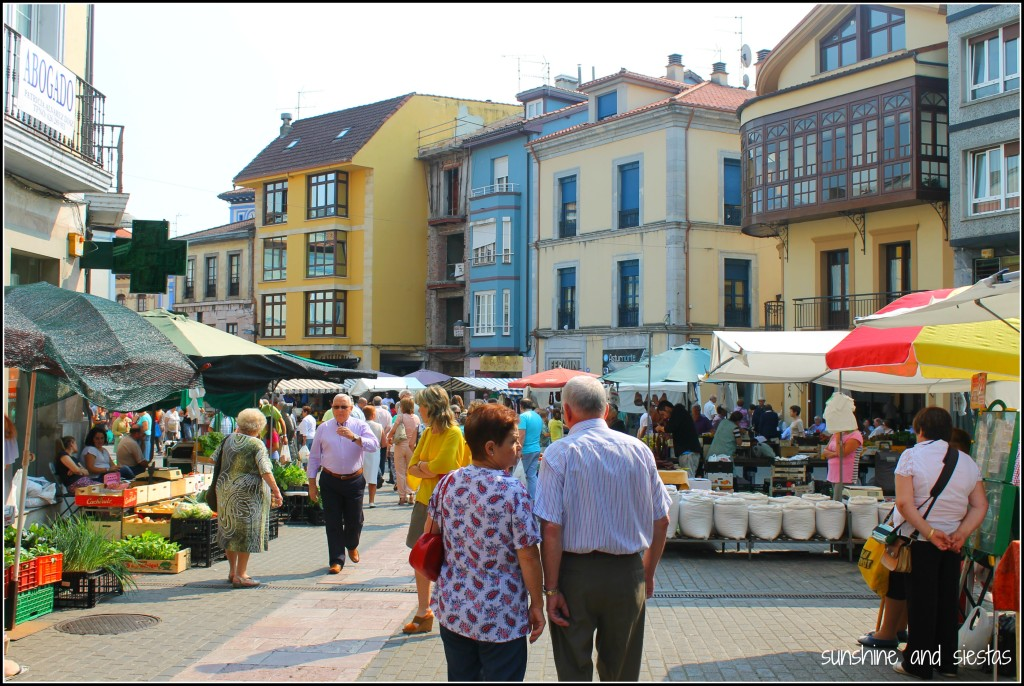 Weekly market of Grado