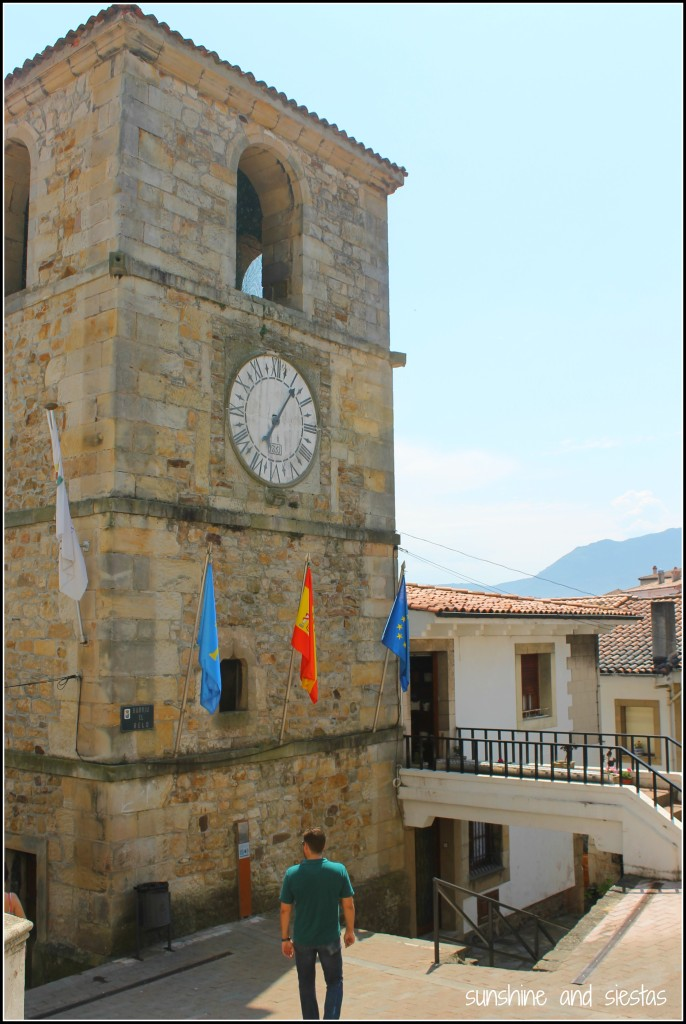 clock tower of Lastres Asturias