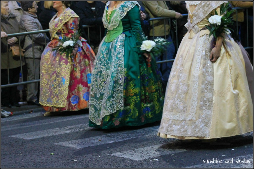 Fallera Women in Las Fallas