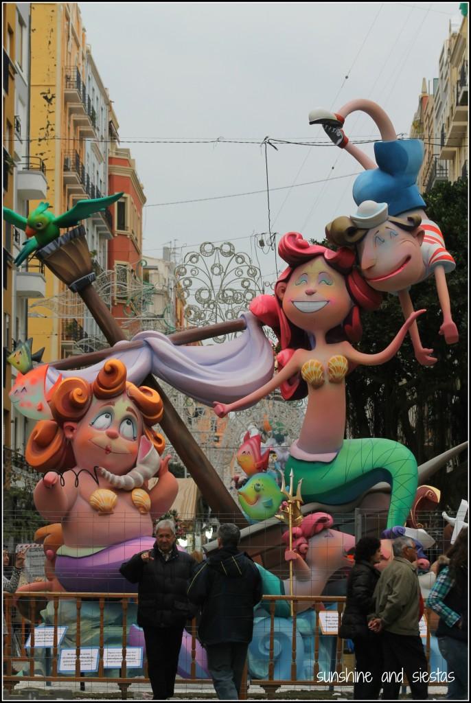 ninots las fallas mermaids