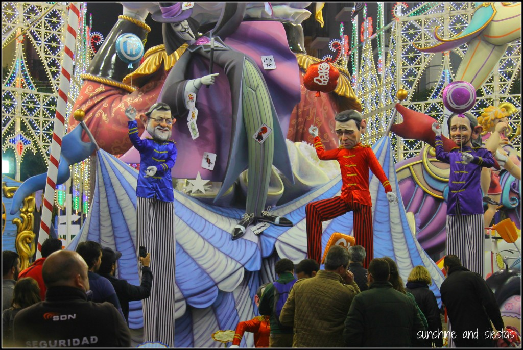 political irony at las fallas