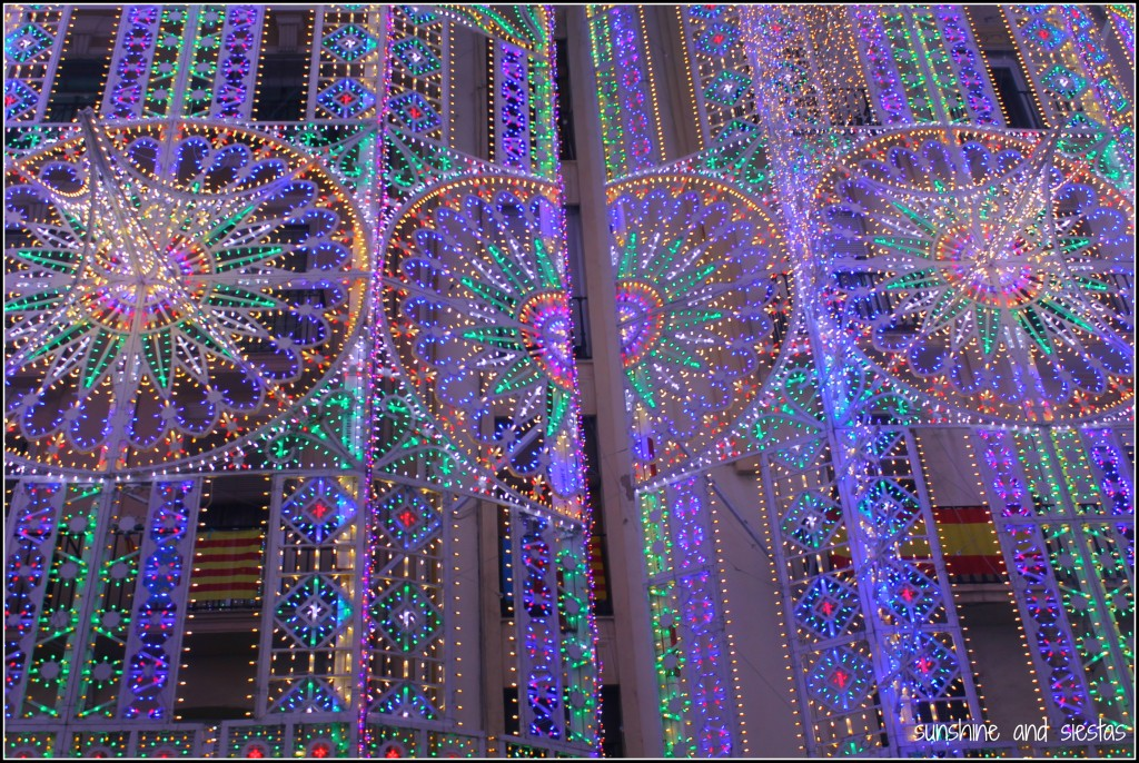 Light shows at Las Fallas