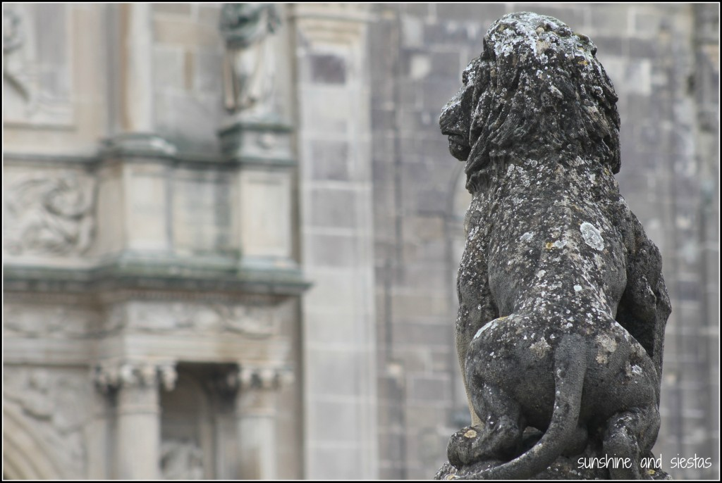 Lion statue Ubeda Spain