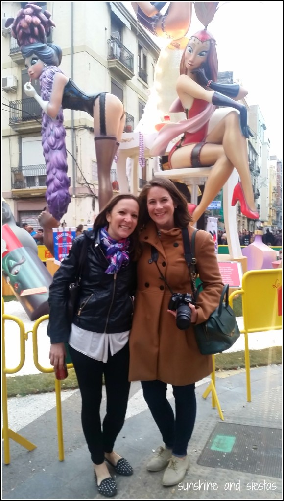 Tourists at Las Fallas Valencia