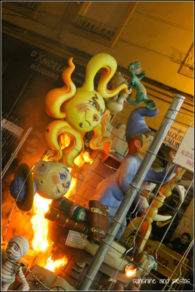 children's falla in valencia