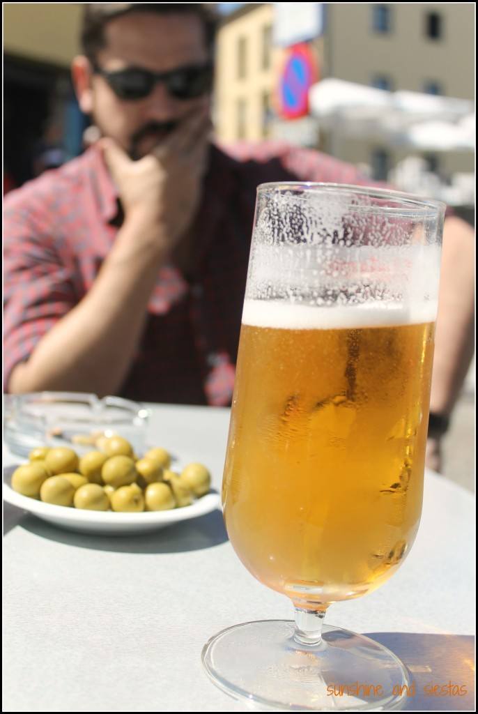 beer on a sunny day