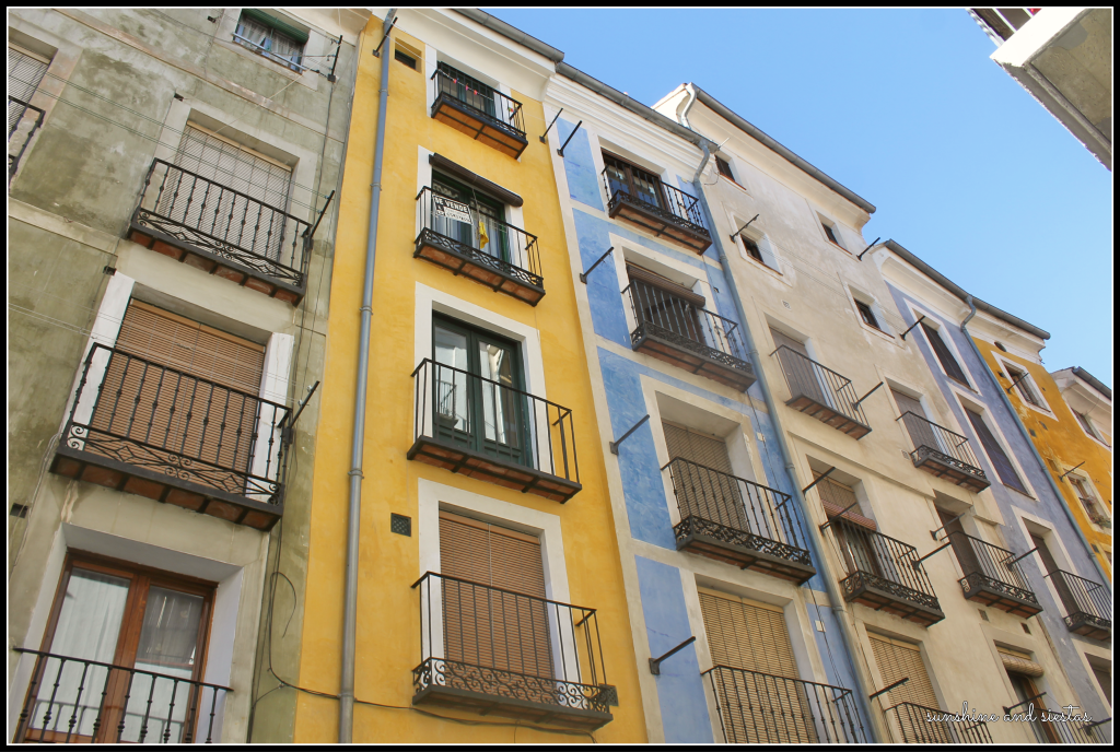 Colorful facades in Cuenca Spain