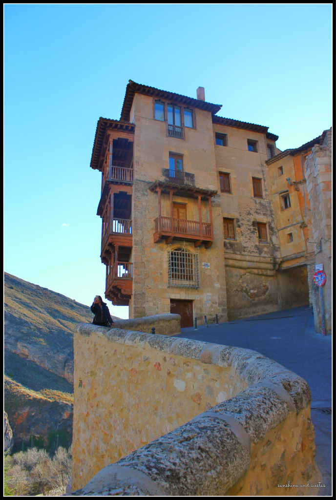 Great view of Cuenca's Casa Colgadas