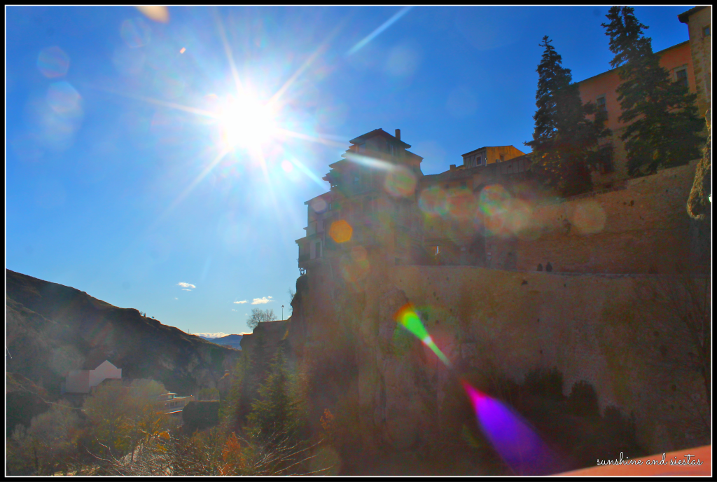 Pretty view of the Hanging Houses of Cuenca