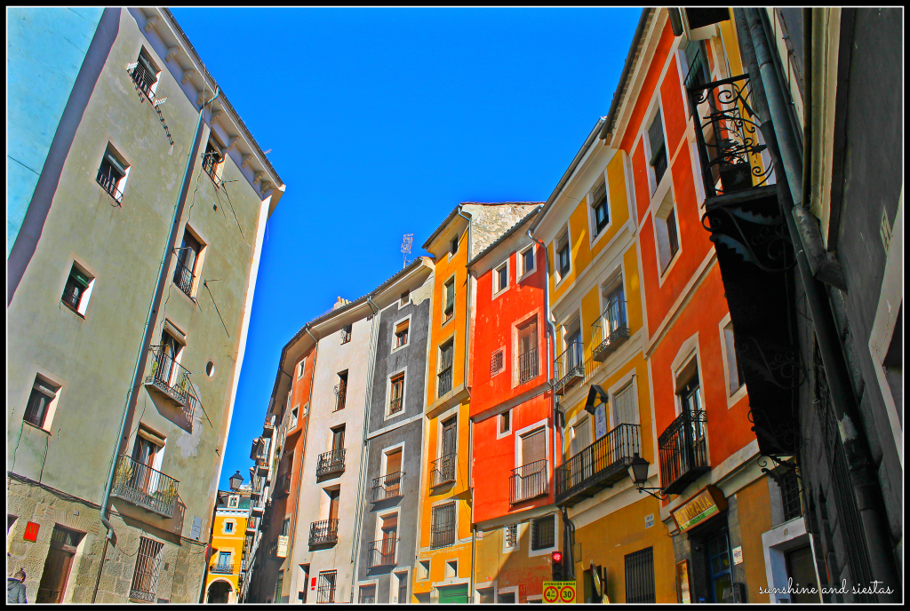 colorful homes Cuenca Spain