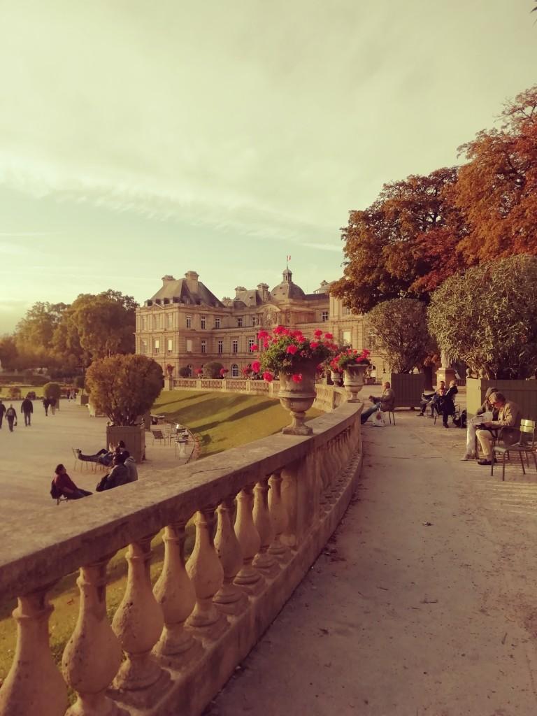 Jardin du Luxembourg at dusk